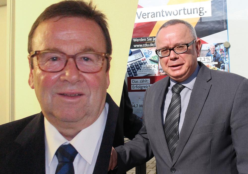 Der CDU-Fraktionsvorsitzende Winfried Pink (links) und der CDU-Stadtverbandsvorsitzende Andreas Meißler stehen in keinem guten Verhältnis zueinander. (Archivaufnahmen)