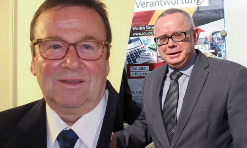 Winfried Pink und der CDU-Stadtverbandvorsitzende Andreas Meißler (rechts) sind bekanntlich keine Freunde.
