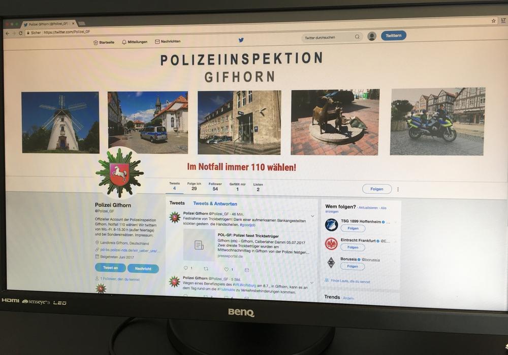 Ab sofort könnt ihr der Gifhorner Polizei auf Twitter folgen. Foto: Eva Sorembik