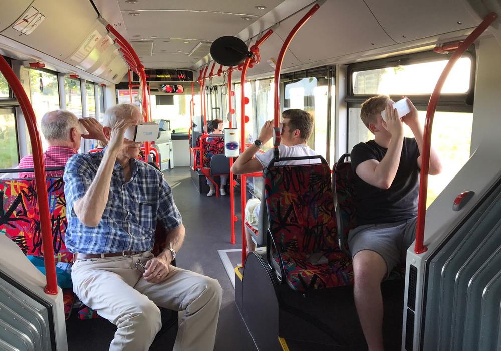 Vier Mal bot die Stadt Wolfsburg im digitalen Bus Bürgeraktionen zum Thema Digitalisierung an. Foto: Stadt Wolfsburg