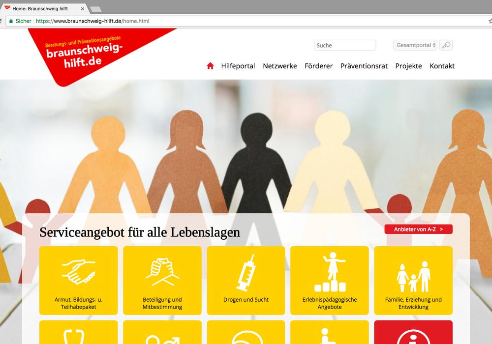 Das Angebot von www.braunschweig-hilft.de wurde überarbeitet. Screenshot: www.braunschweig-hilft.de