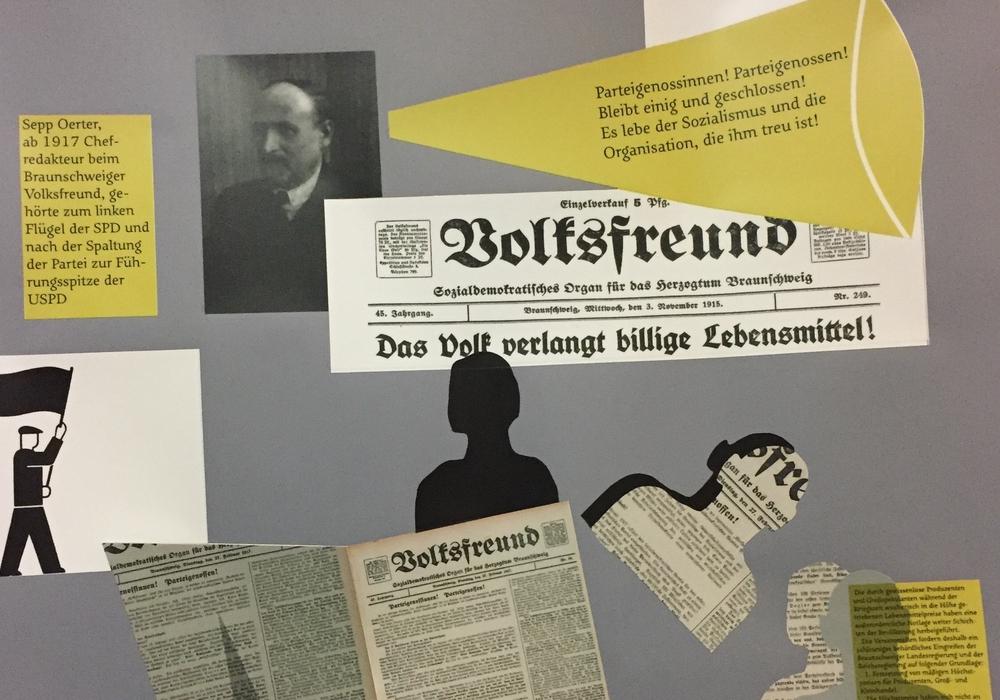 """Die Ausstellung """"Sonst geht's uns gut. Braunschweiger Biografien 1916"""" kann besucht werden. Foto: SPD"""
