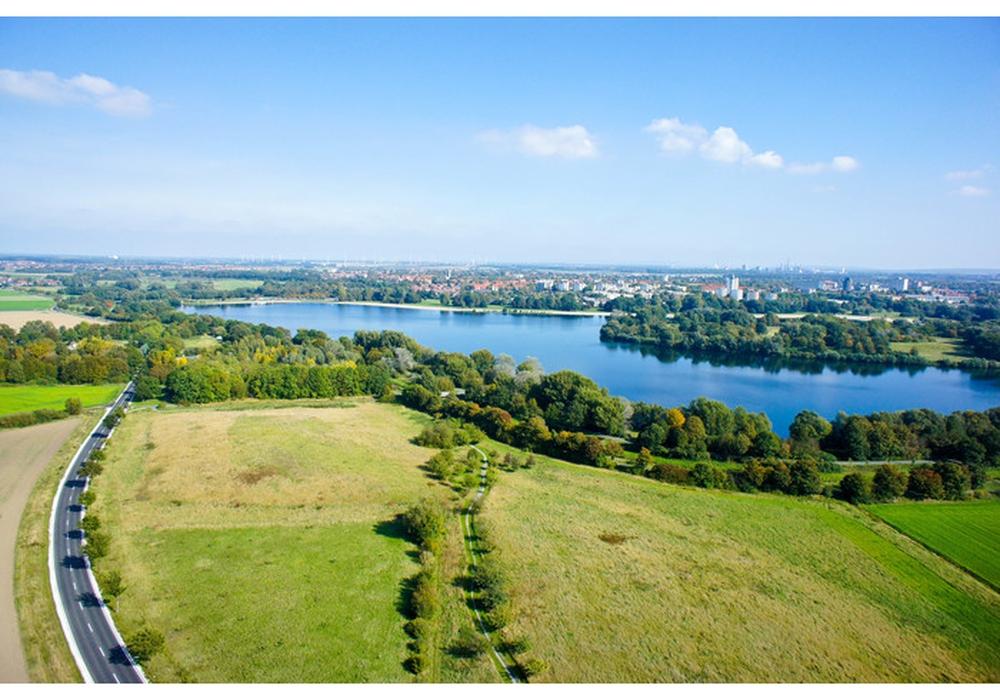 Luftaufnahme des Salzgittersees. Foto: Stadt Salzgitter