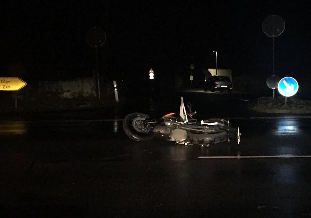 Der Motorradfahrer hatte Glück im Unglück. Foto: aktuell24