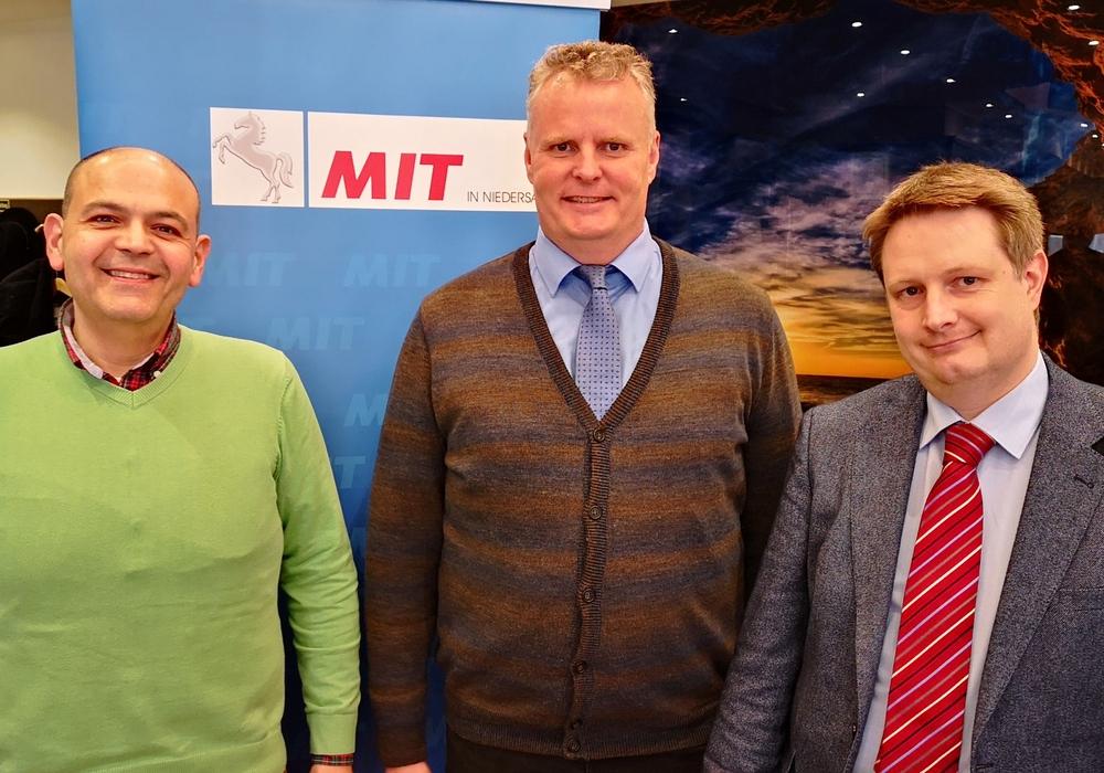 Der neue MIT-Vorstand (v.l.n.r.): Bassam Matar (Stellvertretender Vorsitzender), Volker Meier (Vorsitzender), Ronald Kandel (Schaftführer). Foto: MIT Helmstedt