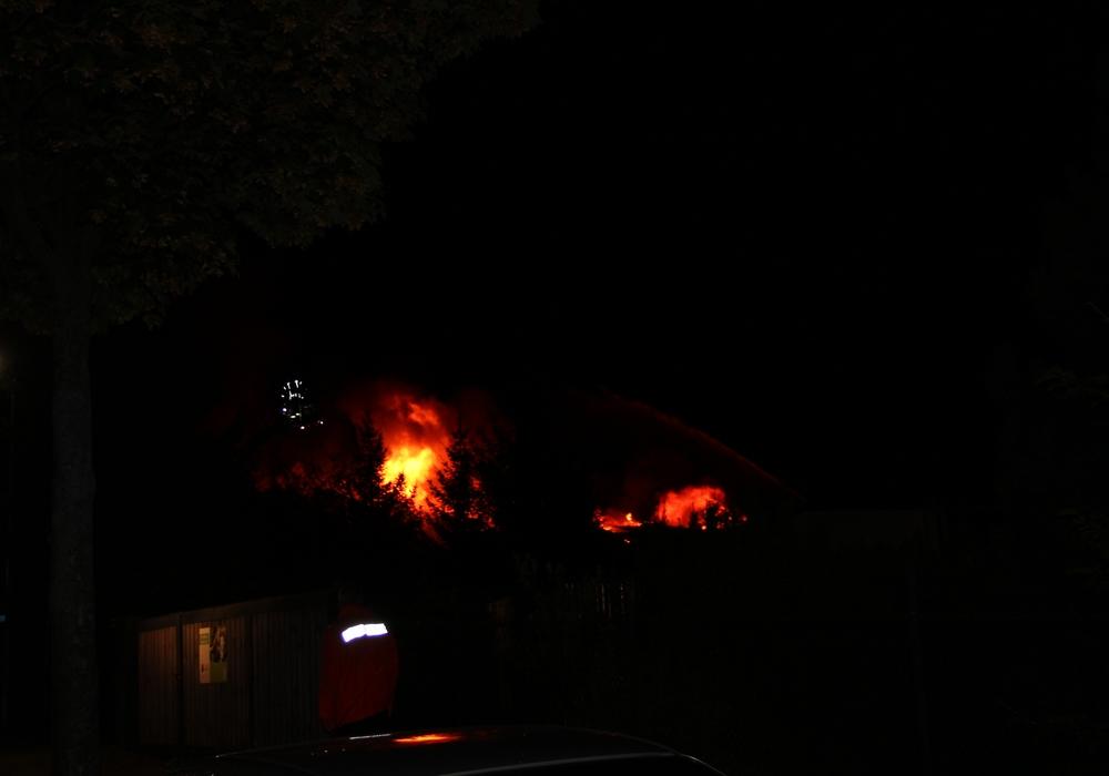 Feuer in Jerstedt. Foto: Feuerwehr Goslar