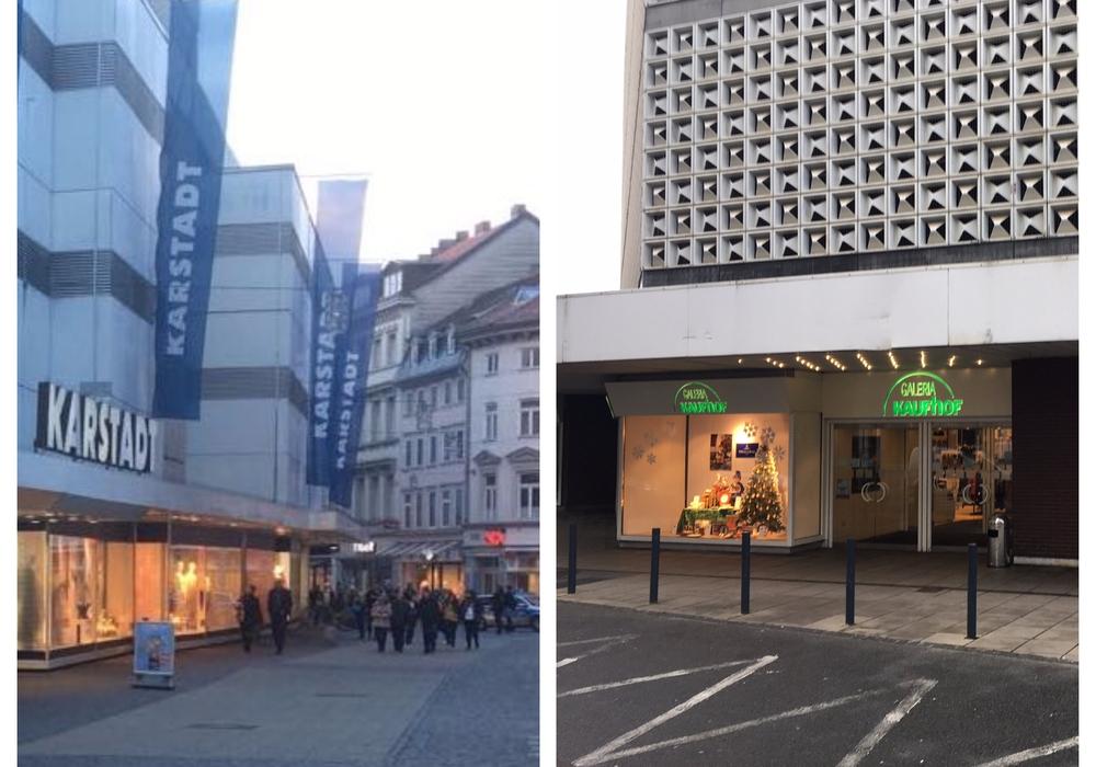 In Braunschweig gibt es drei Karstadtfilialen und das Kaufhof-Galeria-Haus. Fotos: aktuell24 (BM)/Alexander Dontscheff