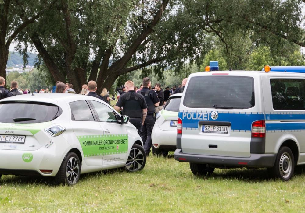 Auch der städtische Ordnungsdienst war im Einsatz.