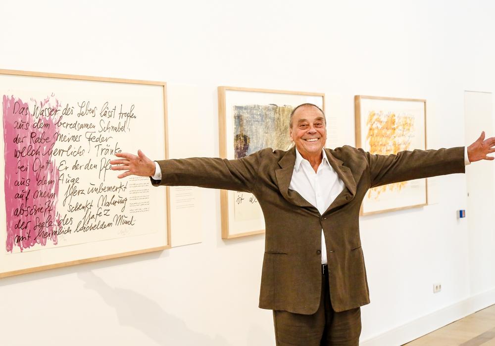 Günther Uecker freut sich über die Verlängerung seiner Ausstellung. Foto: Stadt Wolfenbüttel