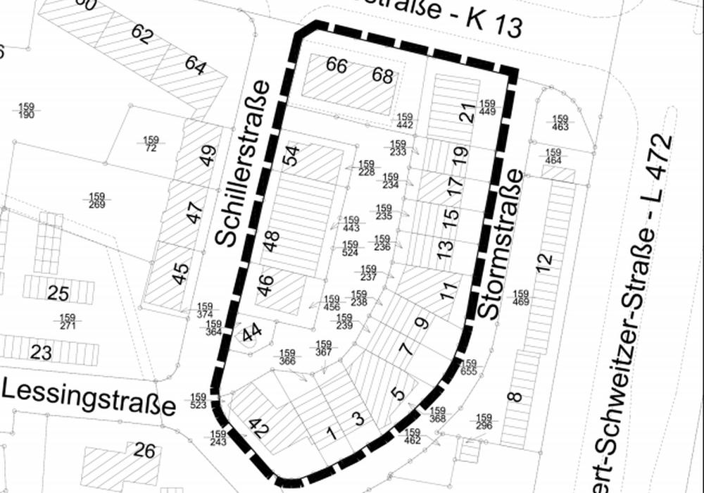 Zentraler Versorgungsbereich Stormstraße soll vorerst nicht geändert werden. Karte: Stadt Salzgitter