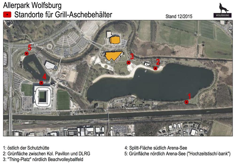 Die Stadt richtet Aschebehälter ein. Foto: Stadt Wolfsburg