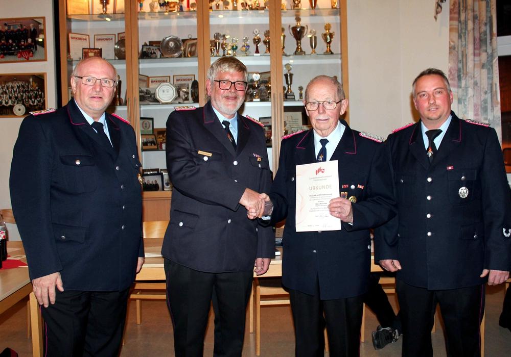 Von links: Hans-Friedrich Thiemann, Lothar Kolmsee, Alfred Rosenthal, Marco Michalik. Foto und Text: Bernd-Uwe Meyer