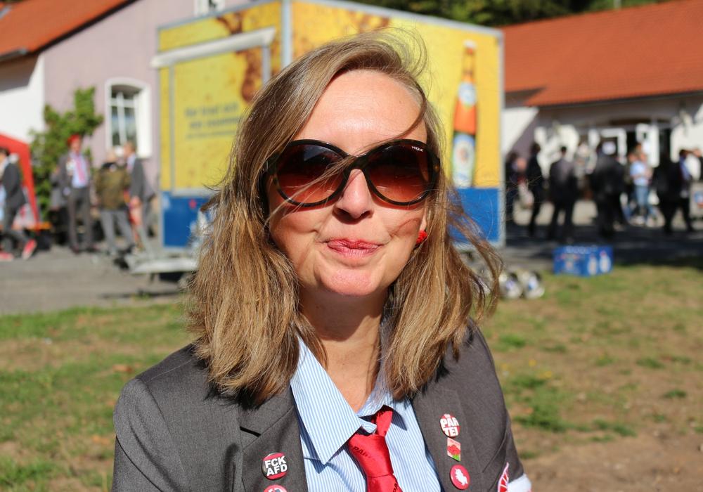 Bettina Kiehne-Weinreich ist zur Volkskommissarin gewählt. Foto: Die Partei