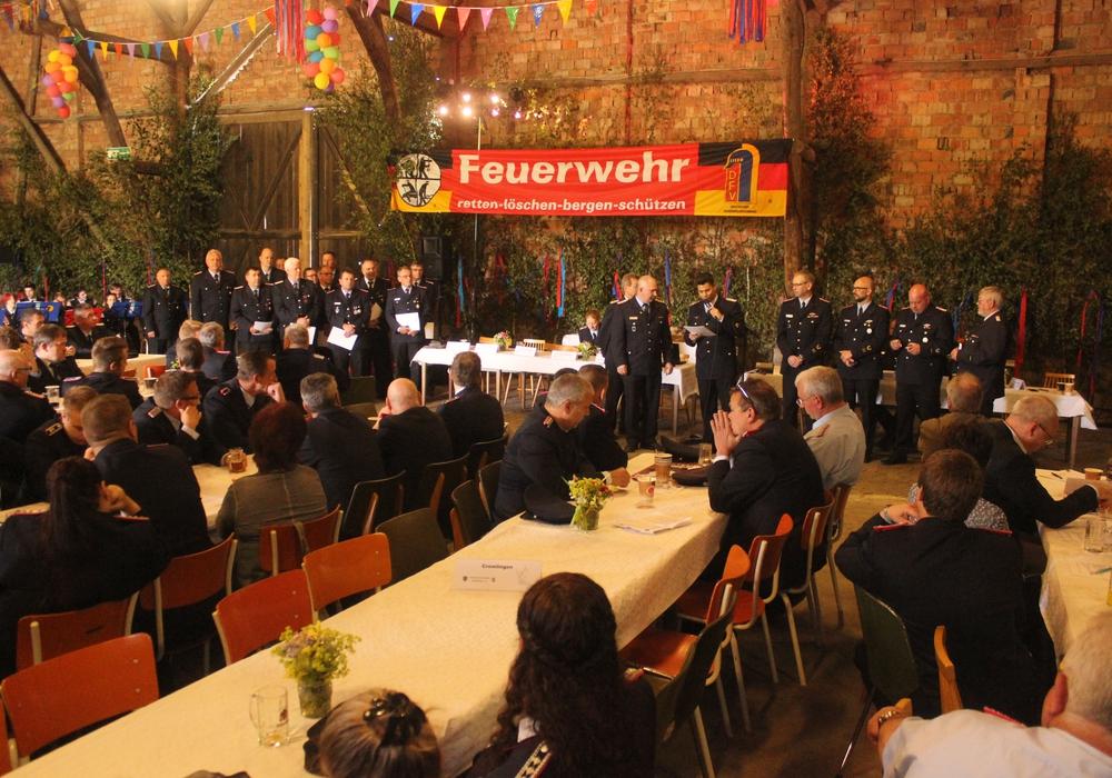 Am Samstag fand in Groß Biewende die Delegiertenversammlung des Kreisfeuerwehrverbandes Wolfenbüttel statt. Fotos: Anke Donner