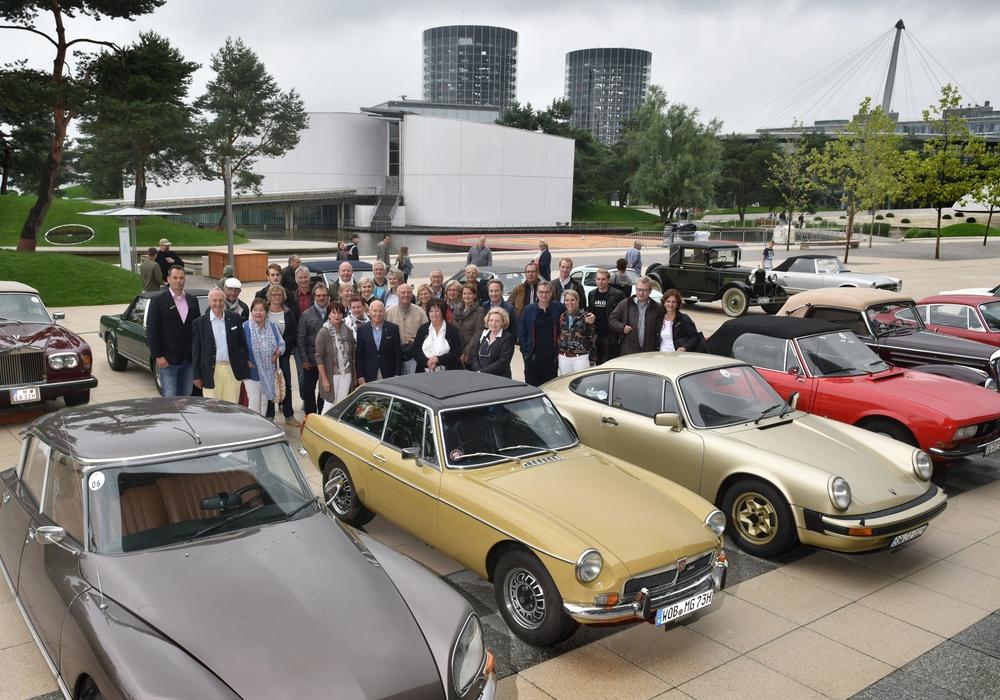 Die Autostadt war am Sonntag Startpunkt der Sommerausfahrt des ASC.  Foto: Autostadt/ Lars Landmann