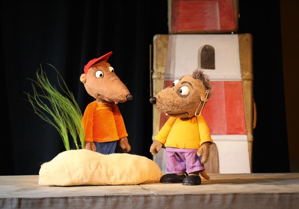 Die Puppen Bocky & Schrippe treten im Rahmen der Puppenspieltage auf. Foto: Figurentheater Marmelock