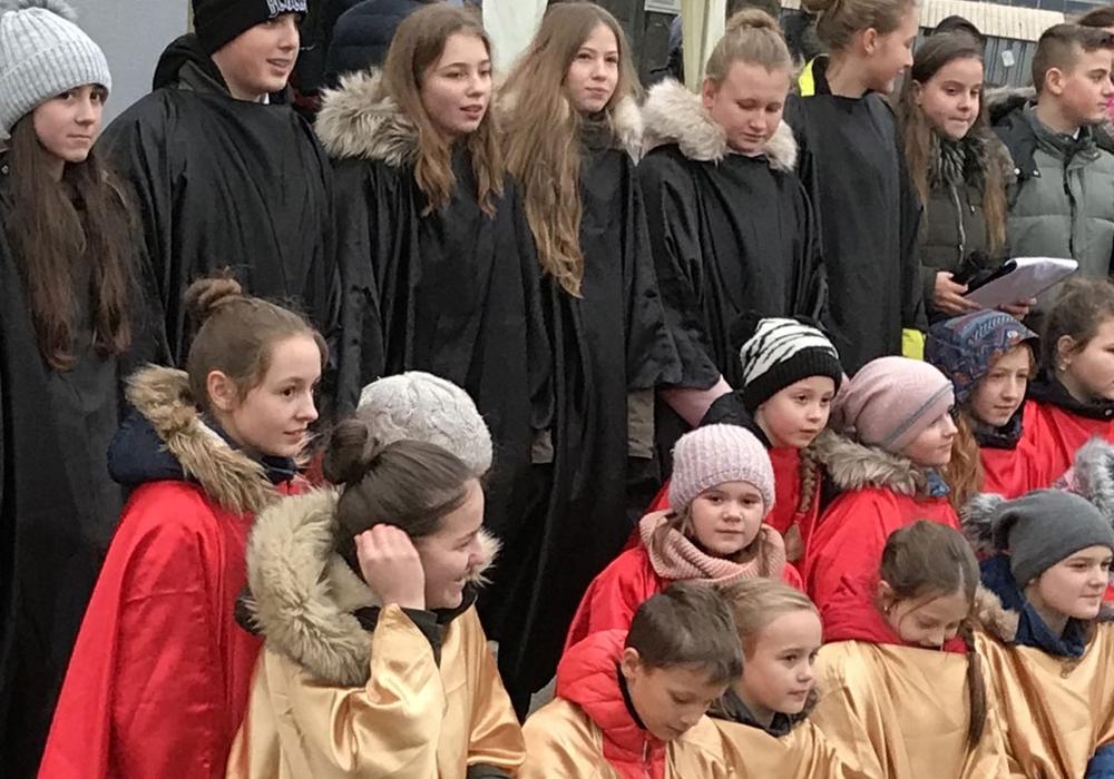 Polnische Kinder singen die Europahymne auf Deutsch. Fotos: CDU Stadtverband Seesen
