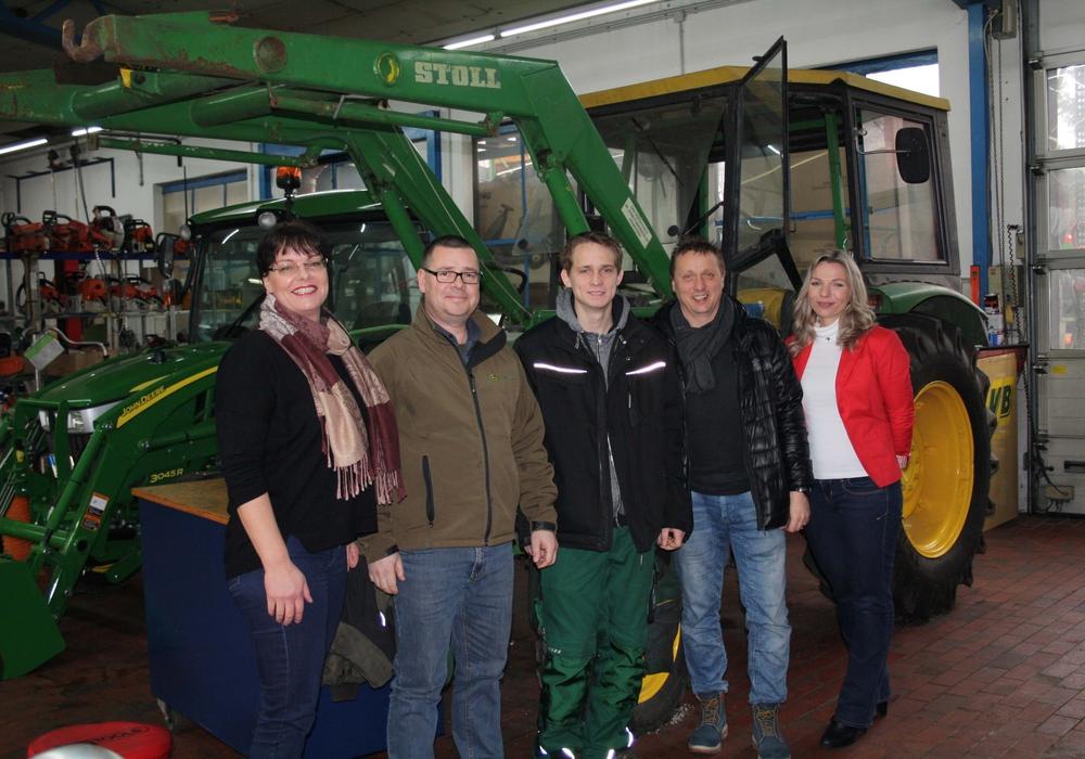 Nicole Rudbach, Martin Schuhmann, Marcel Bendlin, Karsten Scholten und Sandra Heinath Foto: Agentur für Arbeit Helmstedt