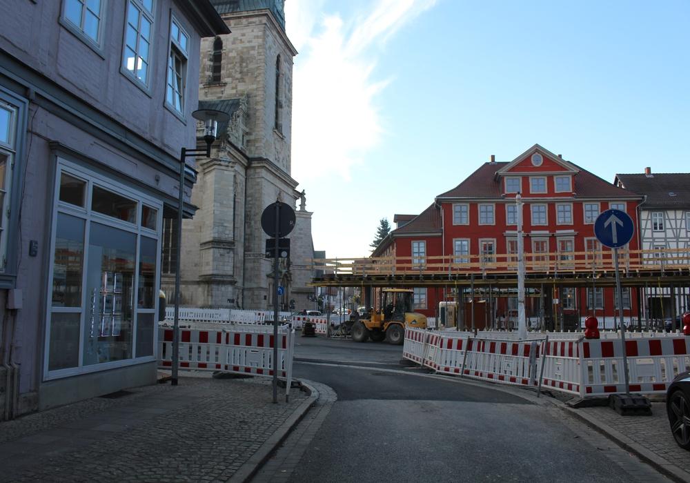 Der Kornmarktumbau geht in die nächste Phase. Dabei wird es einige Umstellung an den Bussteigen geben. Foto: Jan Borner