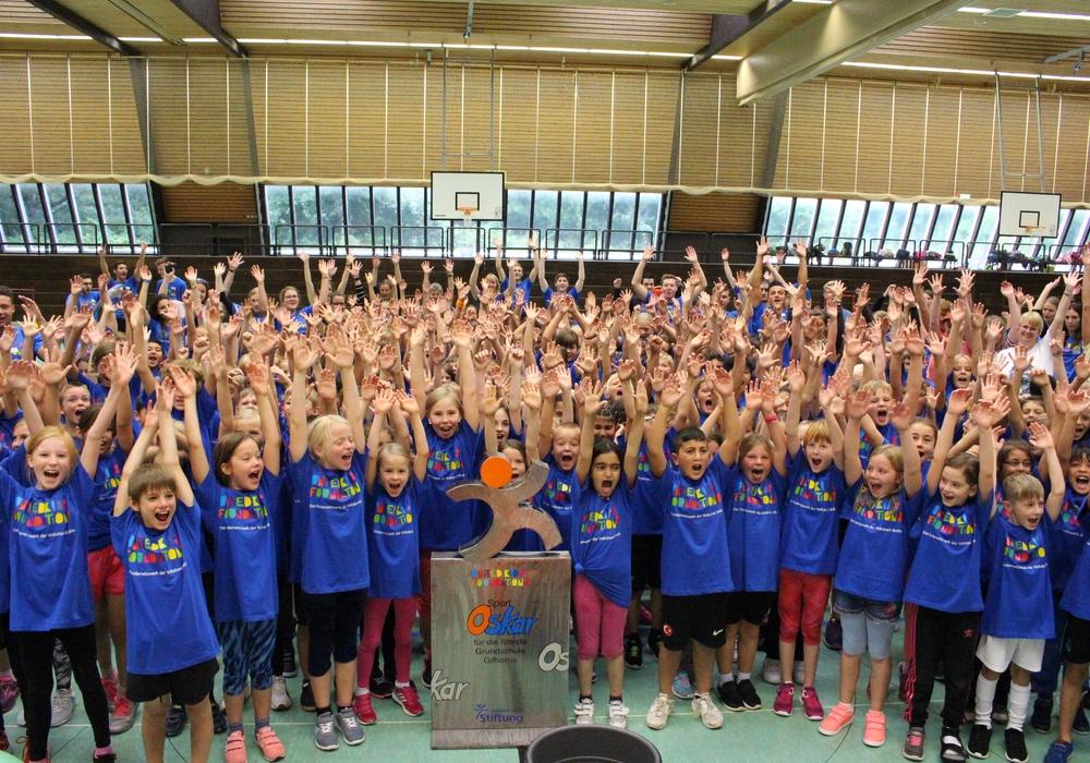 300 Kinder von 15 Grundschulen aus der Region Gifhorn nahmen am 5. United Kids Foundations Sport-Oskar in Gifhorn teil. Fotos: Sandra Zecchino
