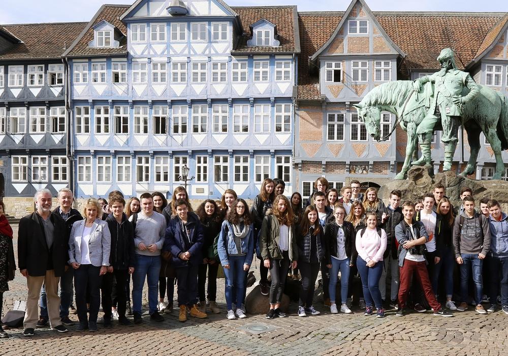 Schüler aus  Saint-Pol-de-Léon besuchen für eine Woche die Lessingstadt. Foto: Thorsten Raedlein