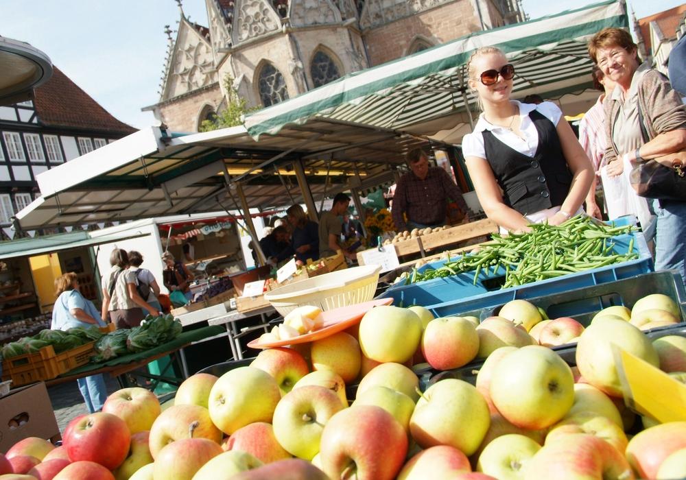 Am 27. Dezember findet kein Wochenmarkt statt. Foto: Robert Braumann