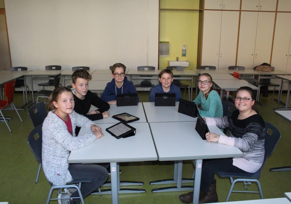 Schüler des Gymnasiums im Schloss erlernten spielerisch den Umgang mit dem Internet. Foto: Bernd DUkiewitz