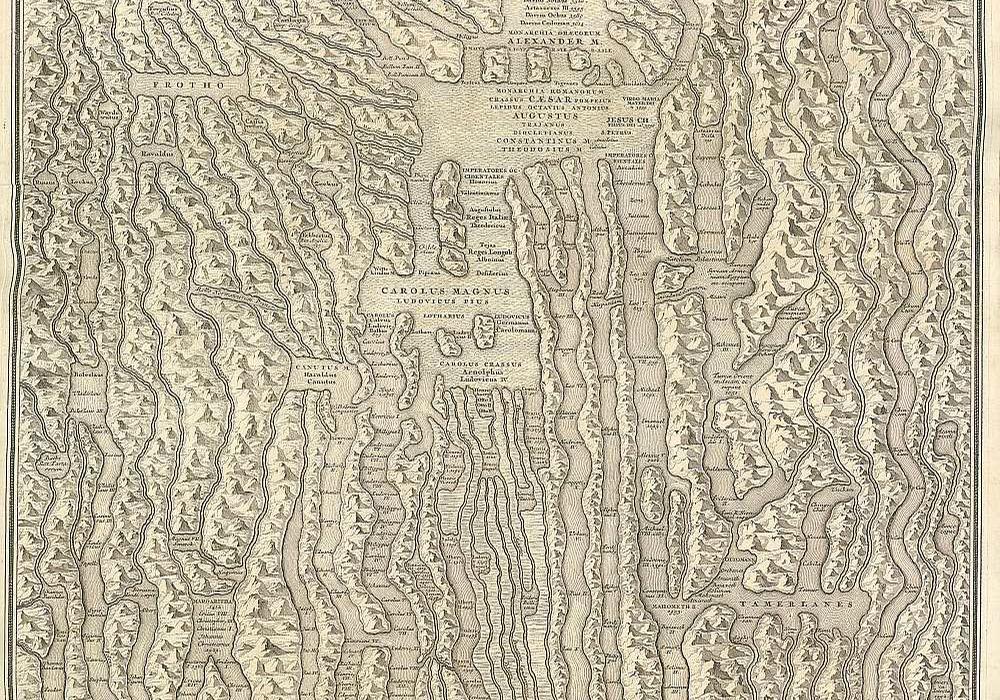 Landkarte des Weltgeschehens: Idea Historiae Universalis (Foto: Universitätsbibliothek Eichstätt-Ingolstadt: 183/1 Rs 237 )