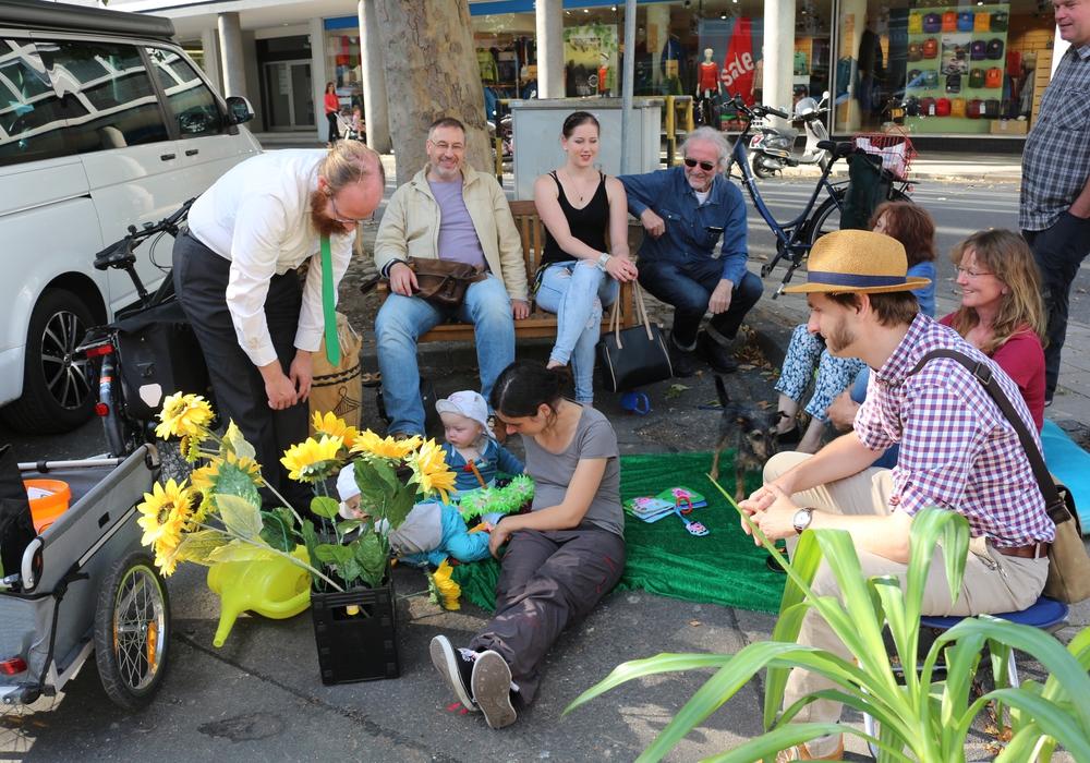 Die Grünen riefen dazu auf kleine Parks entstehen zu lassen, Foto: Robert Braumann