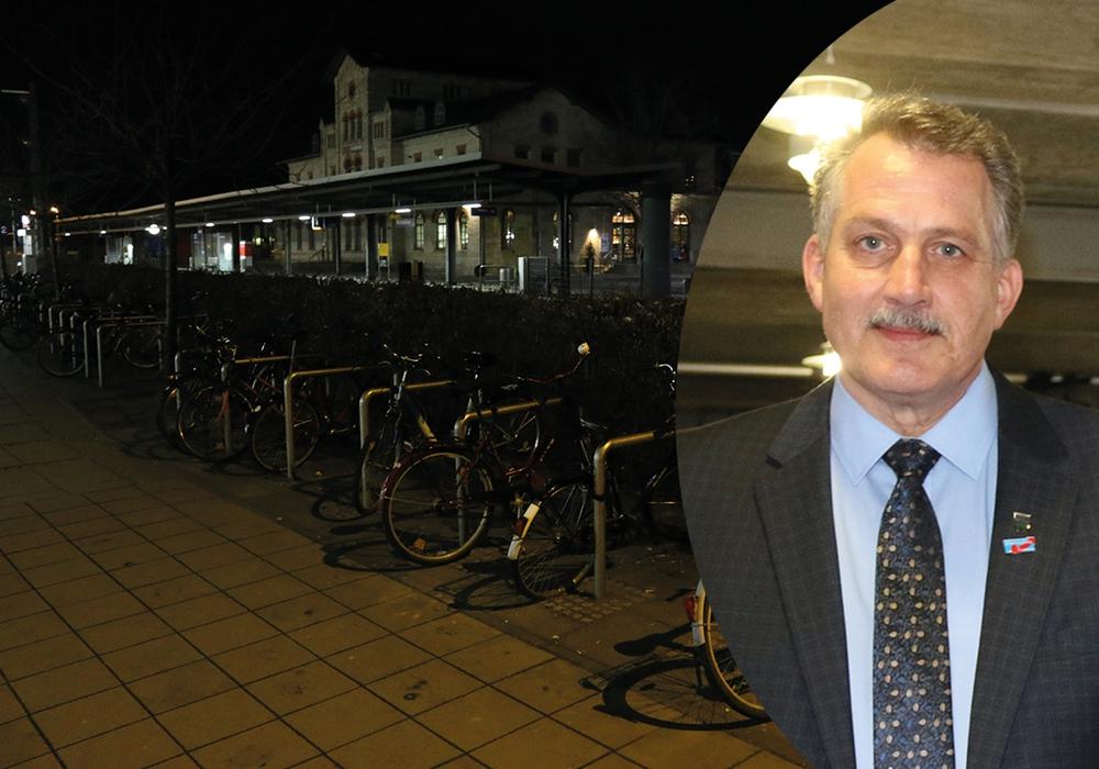 Aufregung um einen Antrag der AfD zur Fahrradabstellanlage am Busbahnhof. Klaus-Dieter Heid erhebt Manipulations-Vorwürfe. Fotos: Werner Heise