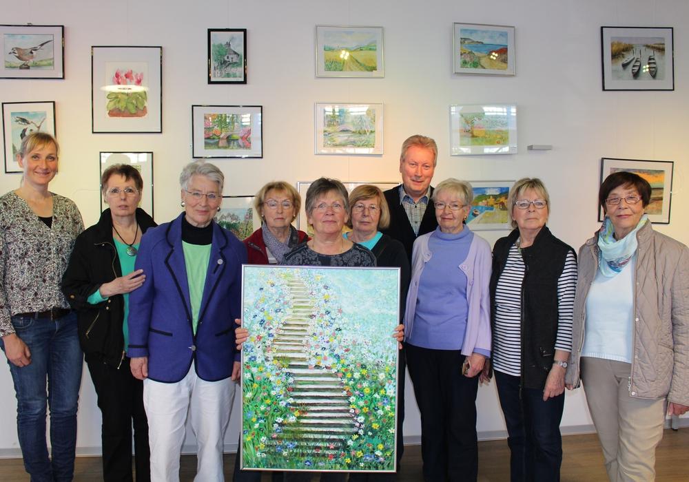Der Seniorenmalkreis Schapen stellt im SchmidtTerminal aus, Foto: Jan Borner