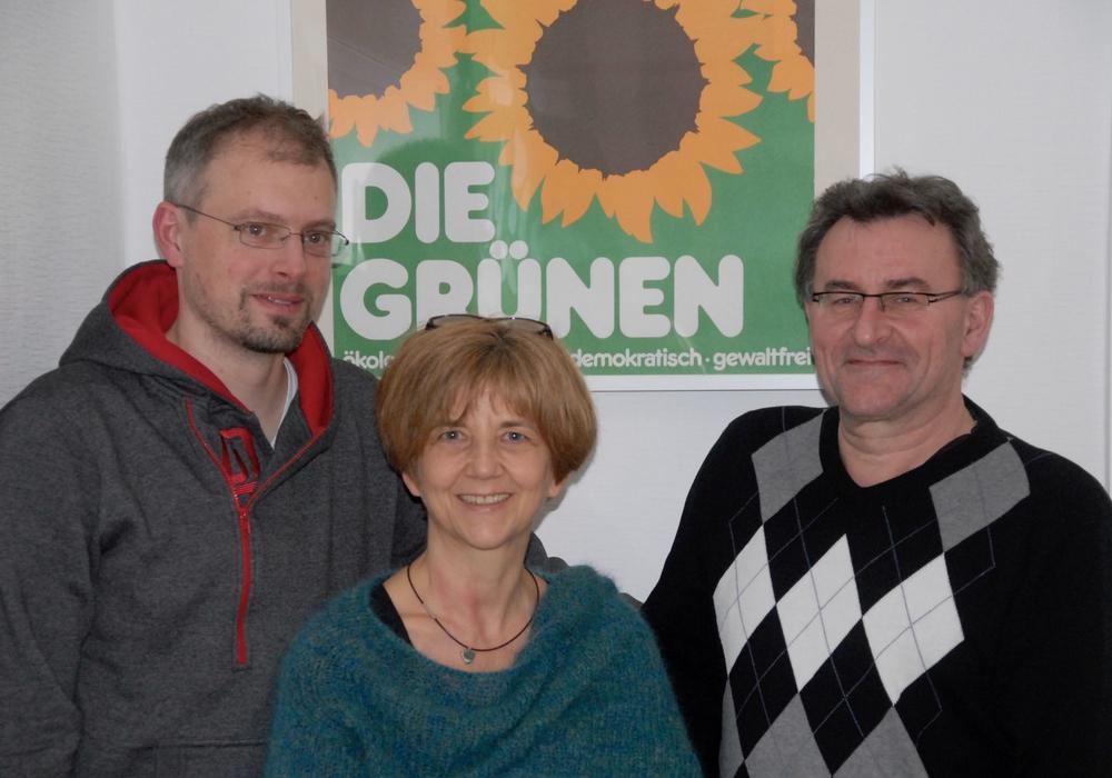 Der neue Vorstand des Ortsverbandes Bündnis90/Die Grünen: Nils Linneweber, Sünke Freiberger und Holger Fenker. Foto: Holger Plaschke