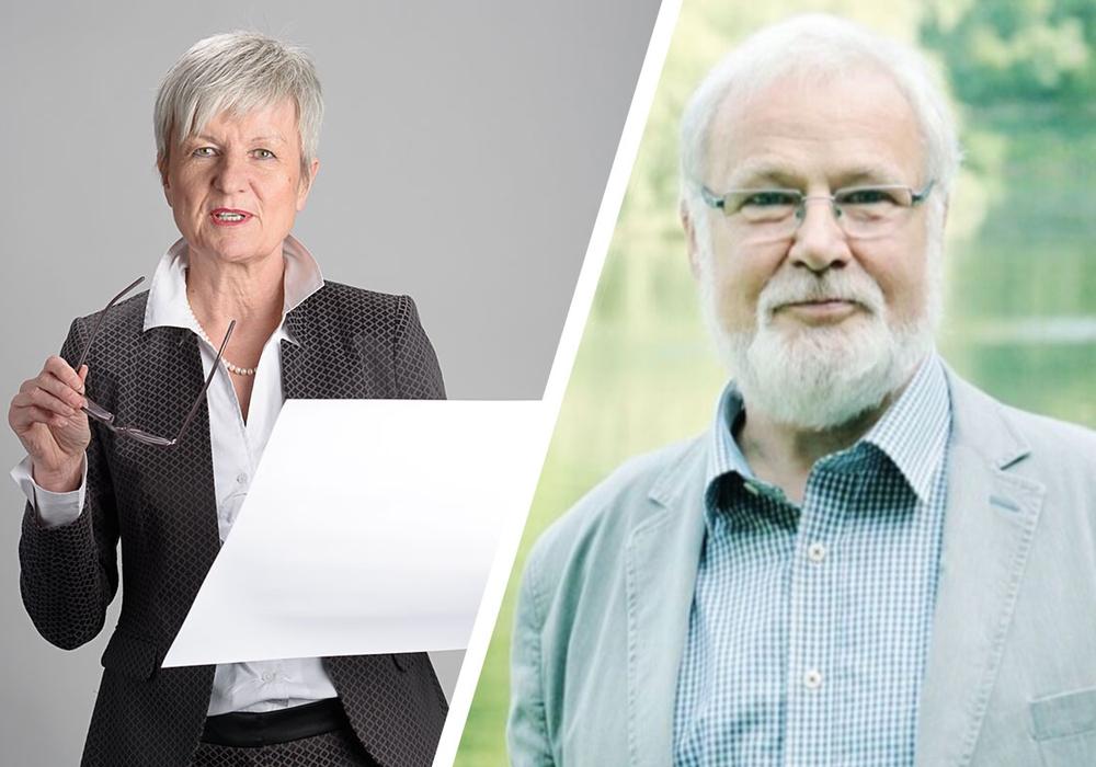 Hilmar Nagel (rechts) kritisiert Landrätin Christiana Steinbrügge. Fotos: Privat