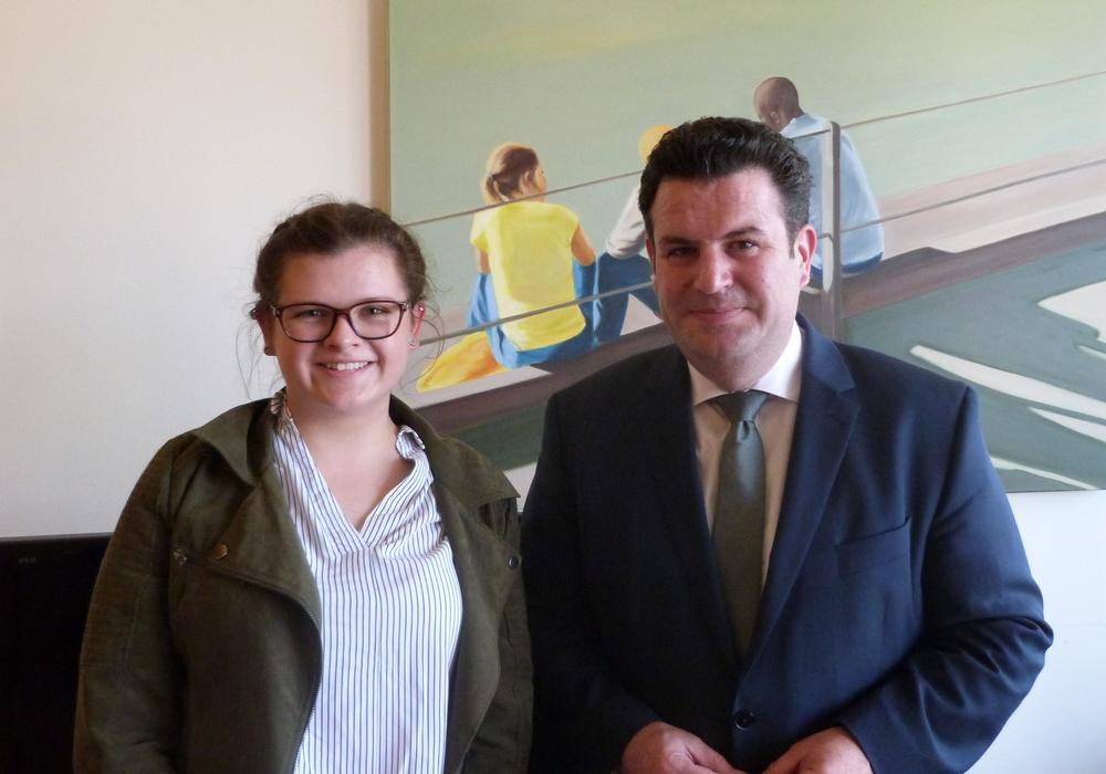Hannah Schnute begleitete Hubertus Heil einen Tag. Foto: SPD