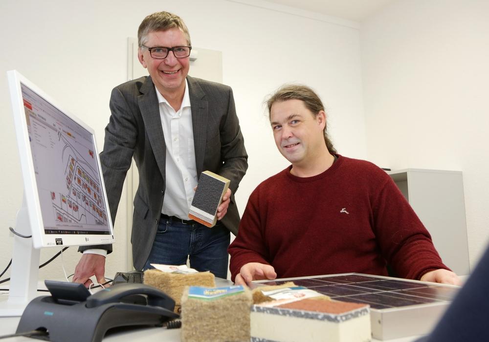 Die Energieberater Karl-Heinz Kubitza, BS|ENERGY (l.) , und Dirk Burmeister, Stadt Braunschweig. Foto: BS Energy