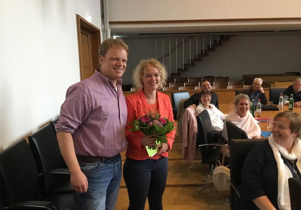Christoph Bratmann verabschiedete Tanja Pantazis. Foto: SPD Braunschweig