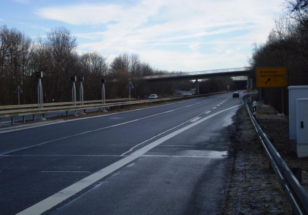 Fest installierter Blitzer auf der B4 in Richtung Wernigerode. Foto: Landkreis Goslar