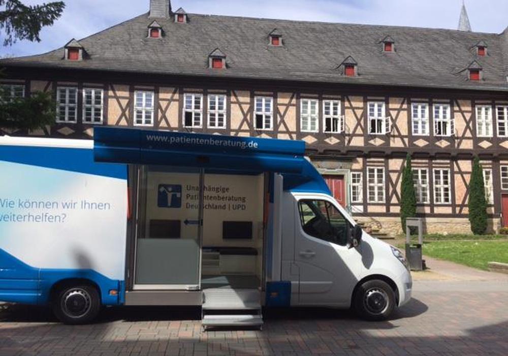 Am 5. Juni hält nach Angaben der Unabhängigen Patientenberatung Deutschland (UPD) in Goslar ein Beratungsmobil in der Fußgängerzone. Foto: Unabhängigen Patientenberatung Deutschland
