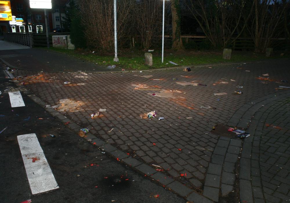 Schäden durch Knaller Symbolfoto: Anke Donner