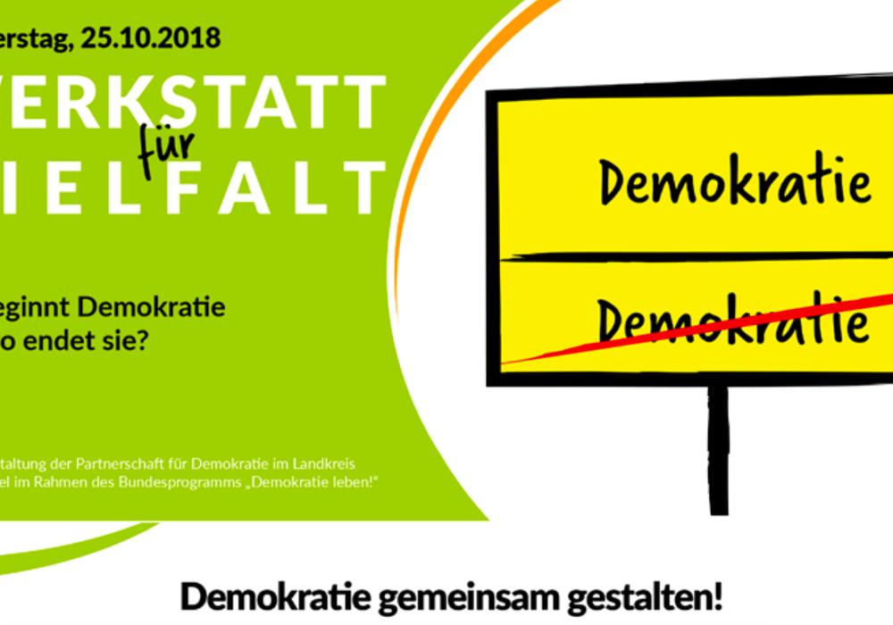 """""""Wo beginnt Demokratie und wo endet sie?"""" Quelle: Landkreis Wolfenbüttel"""