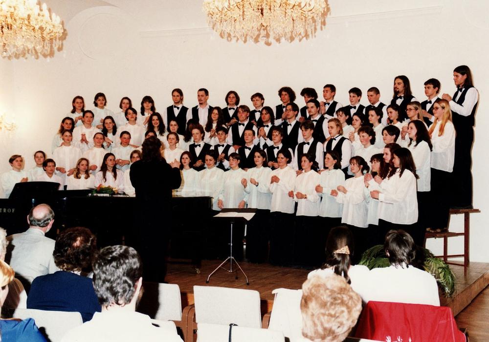 """Der Chor """"LUSCINIA"""" vor einem Auftritt. Foto: Chor """"LUSCINIA"""""""