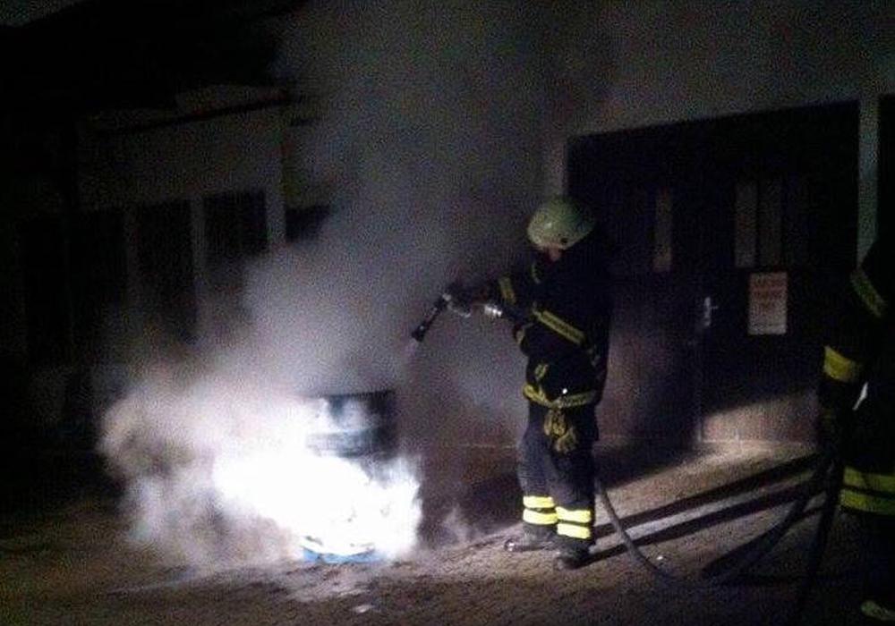 Brand am Rosenwall. Foto: Feuerwehr
