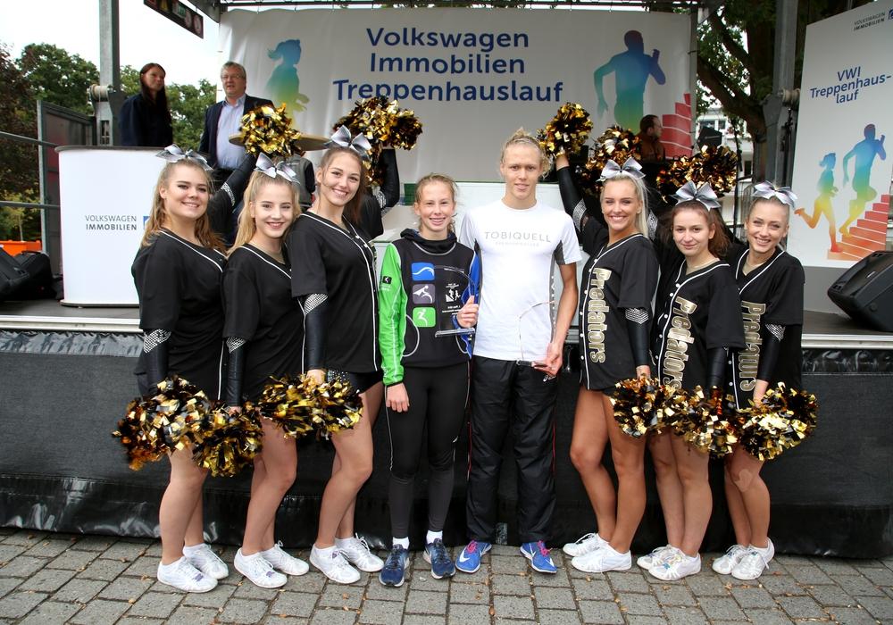 Mika Noodt und Anne Petersen waren die Schnellsten. Fotos:  Volkswagen Immobilien GmbH