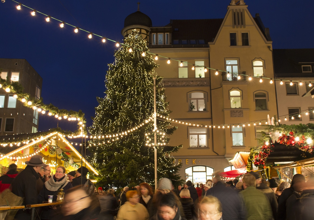 Echte Braunschweiger Tannen schmücken den Weihnachtsmarkt. Symbolfoto: Braunschweig Stadtmarketing GmbH