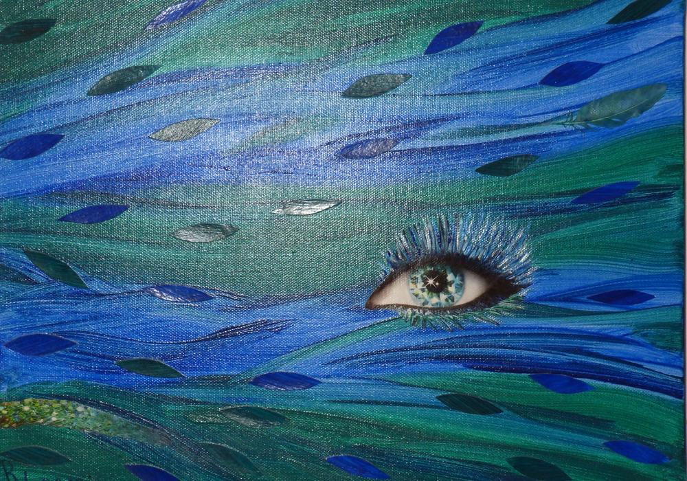 Eines der in der Ausstellung gezeigten Bilder der Künstlerin Renate Kopyto. Foto: Privat