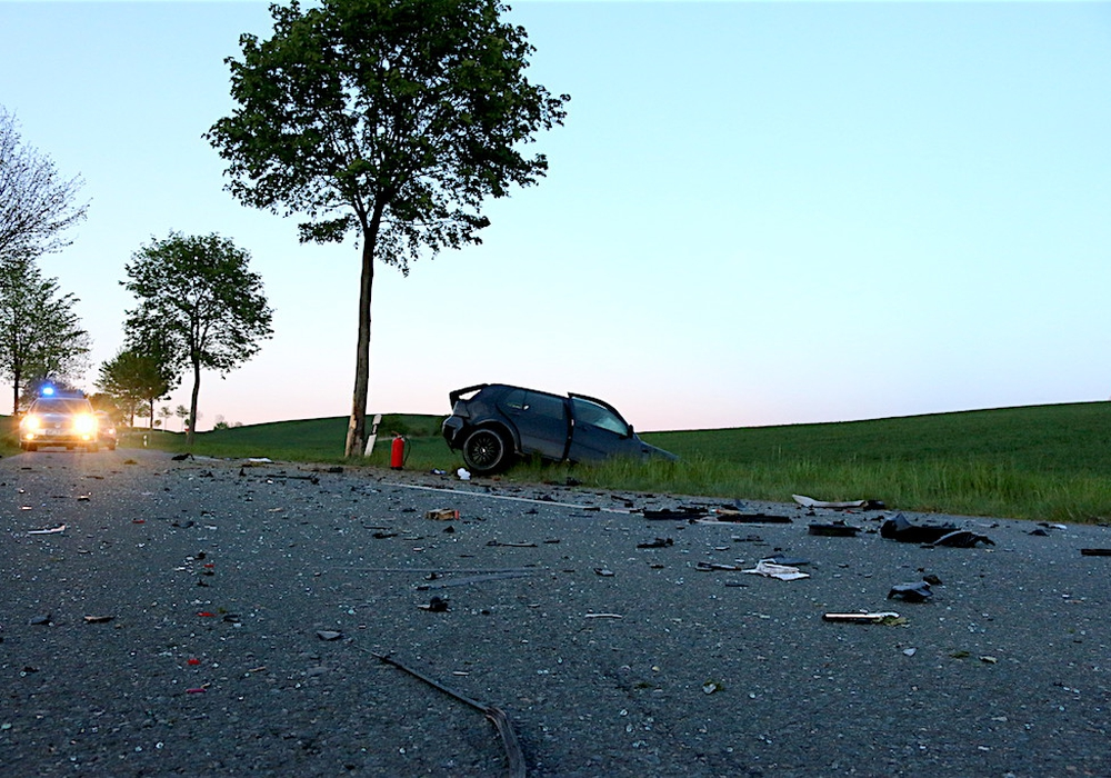 Remlingen, tödlicher Verkehrsunfall. Foto: Werner Heise