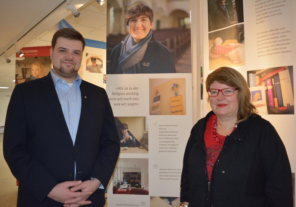 Pastor Titus Eichler und Museumsleiterin Dr Ulrika Evers freuen sich auf viele Besucher. Foto: Kirchenkreis