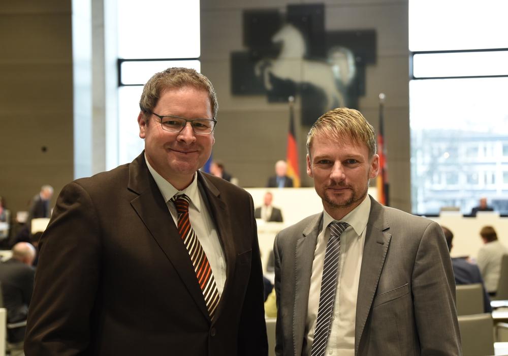Marcus Bosse und Stefan Klein zum Städtebauprogramm 2018. Foto: SPD