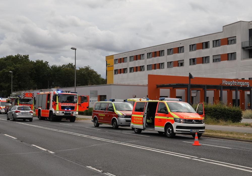 Die Feuerwehren im Umkreis reagierten zügig auf den Alarm der automatischen Brandmeldeanlage. Foto: Rudolf Karliczek