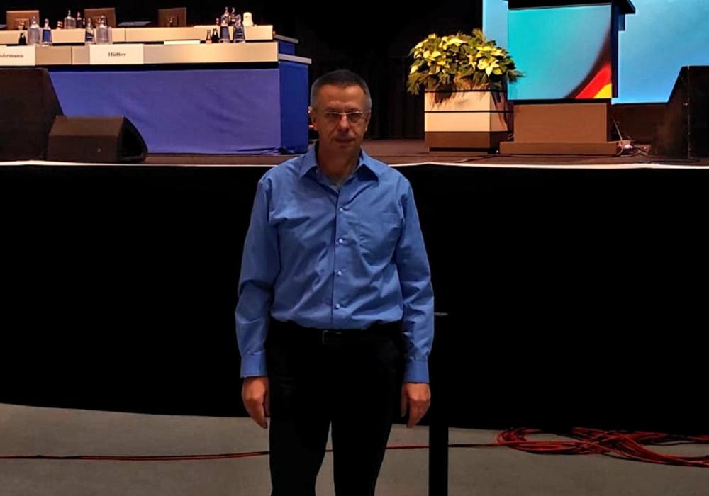 Frank Lange auf dem AfD-Bundesparteitag in Braunschweig. Foto: AfD